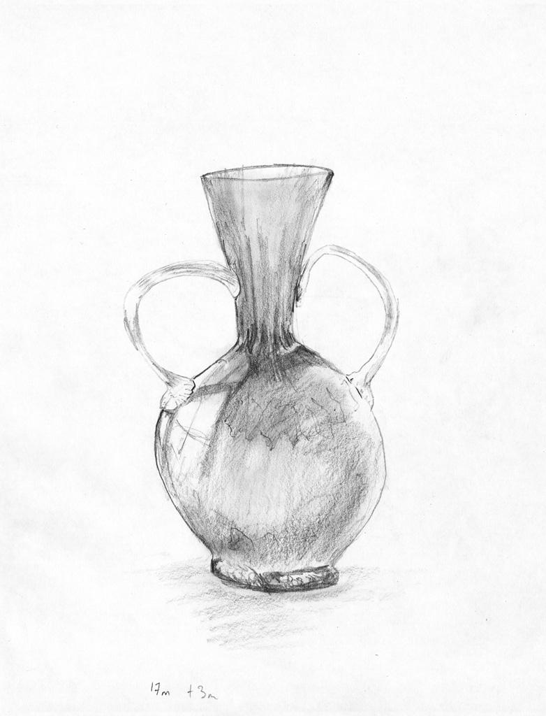 Vase pencil sketch
