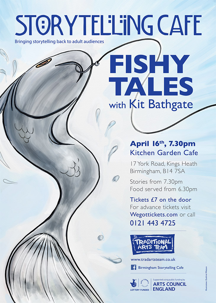 Fishy tales poster design