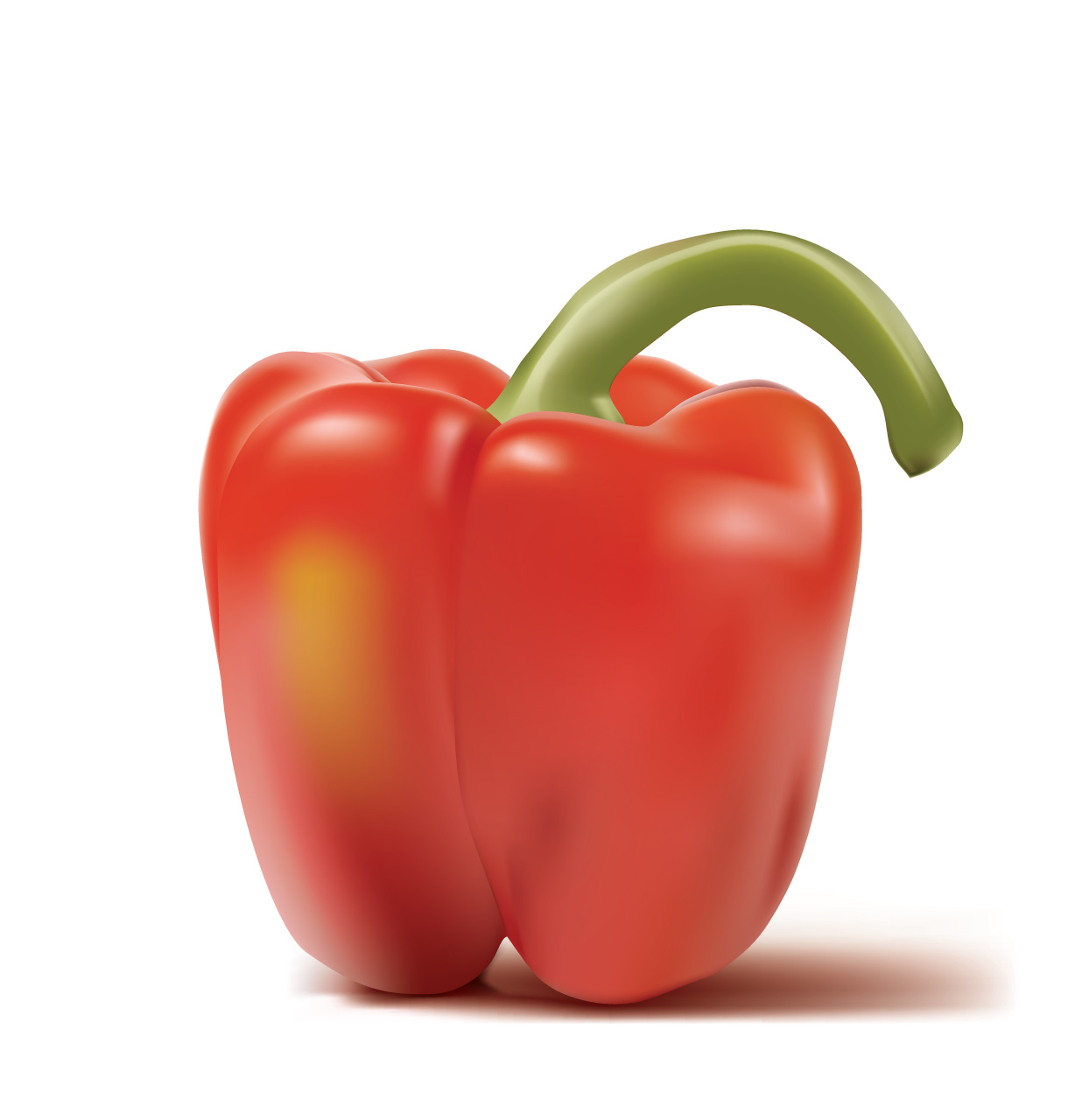 Hyper real red pepper